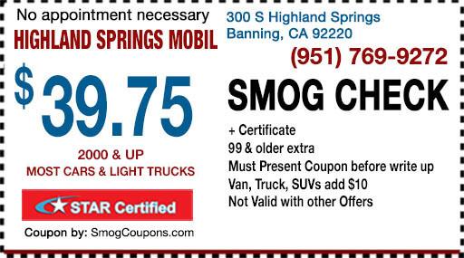 Smog Coupon - Smog Check Banning star station tests